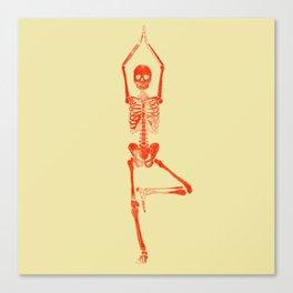 Skeleton Vriksasana Canvas Print