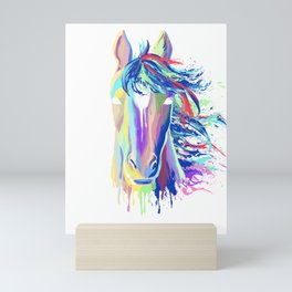 Splash horse gift equestrian riding stallion Mini Art Print