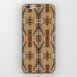 Orange Khaki Dark Brown Mosaic Pattern iPhone Skin