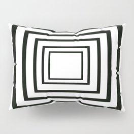 Concentric Squares Black and White Pillow Sham