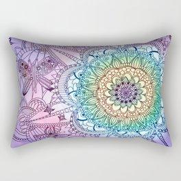 Purple Butterfly Mandala Rectangular Pillow