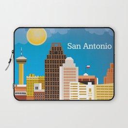 San Antonio, Texas - Skyline Illustration by Loose Petals Laptop Sleeve