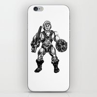 he man iPhone & iPod Skins featuring HE-MAN by Furry Turtle Creations