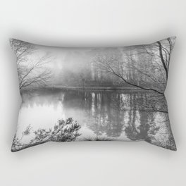 Misty Mallards Pike in Monochrome Rectangular Pillow