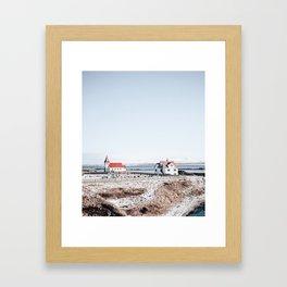 Fisherman Houses Framed Art Print