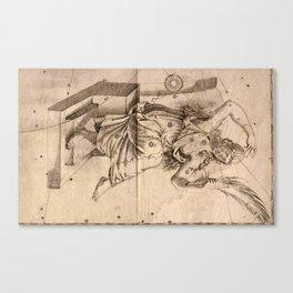 Bayer's Uranometria 1661 - Andromeda Canvas Print