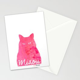 MIAOU rose Stationery Cards