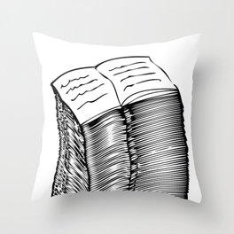 Read and Write A to Z Black on White Throw Pillow
