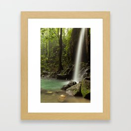 Emerald Pool Waterfall Framed Art Print