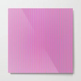 Pink Pinstripes Metal Print
