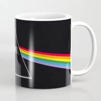 dark side of the moon Mugs featuring The Dark Side of the Moon by Alisa Galitsyna