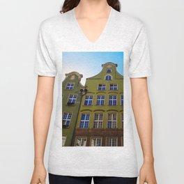 Gdansk Architecture Unisex V-Neck