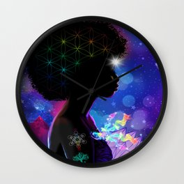 Cosmic Goddess Heart Chakra Wall Clock