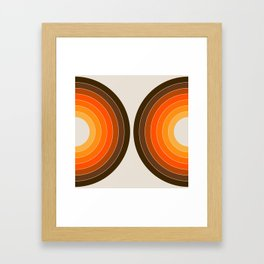 Golden Sonar Framed Art Print
