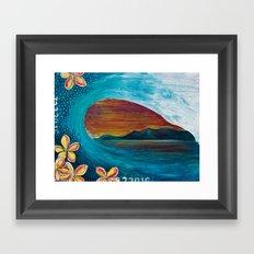 Sunset Tunnel Framed Art Print