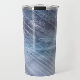 Gray Blue blurred wash drawing Travel Mug