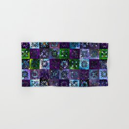 Cool Colors Galaxy Quilt Pattern Hand & Bath Towel