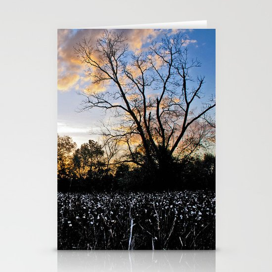 Early Morning in the Cotton Field Stationery Cards