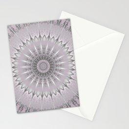 Mauve Silver Mandala Stationery Cards