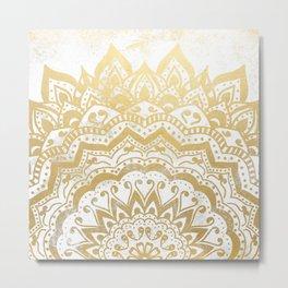 GOLD ORION JEWEL MANDALA Metal Print