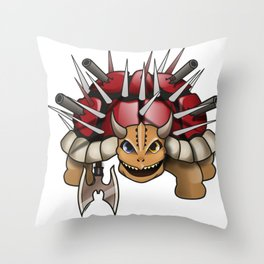 DEATH TURTLE Throw Pillow