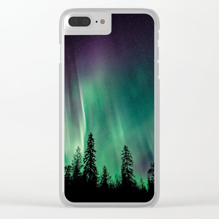 Aurora Borealis (Heavenly Northern Lights) Clear iPhone Case