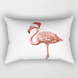 Christmas Flamingo Rectangular Pillow