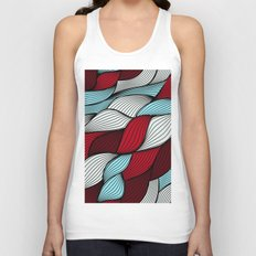 Red blue knit Unisex Tank Top