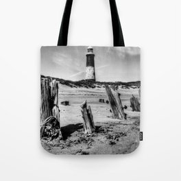 Spurn Point Lighthouse and Groynes Tote Bag