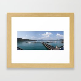 Sun Moon Lake Panoramic View Framed Art Print