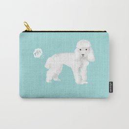 toy poodle funny farting dog breed pure breed pet gifts Carry-All Pouch