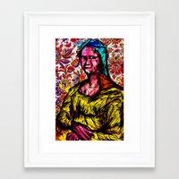 mona lisa Framed Art Prints featuring Mona Lisa by Alec Goss
