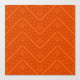 Tipi's (Orange) Canvas Print
