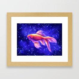 SPACE FISH Framed Art Print