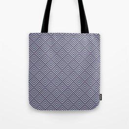 Deco Diamonds - Green and Purple Tote Bag