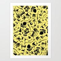 memphis Art Prints featuring Memphis by Mario Graciotti