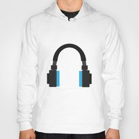 headphones Hoodies featuring Headphones by isaias_yoyo