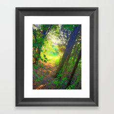From the inside looking out  Framed Art Print