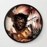 x men Wall Clocks featuring X-MEN by Thorin