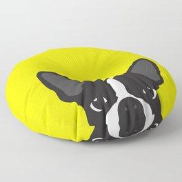 Boston Terrier Yellow Floor Pillow