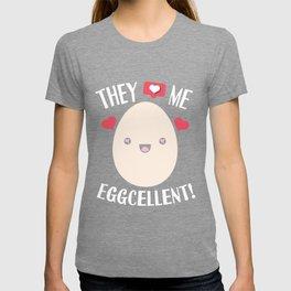 Egg Rekord Eggcellent word game Kawaii gift T-shirt