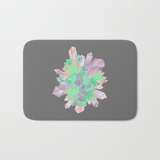 Crystal&Succulents Bath Mat