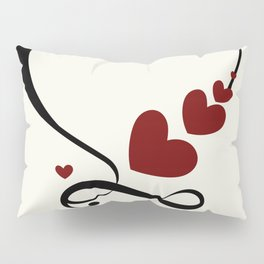 heart with infinity Pillow Sham