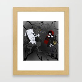 Lil' Red and Big Bad Framed Art Print