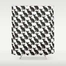 cats pattern black and white 3 Shower Curtain