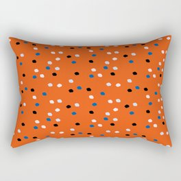Red Ditsy Polka Dot Print Rectangular Pillow