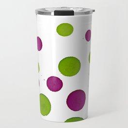 Merry Dots For Christmas With Random Green and Magenta Ink Polka Dots Travel Mug