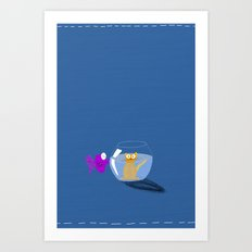 Rock 'n' Bowl Art Print