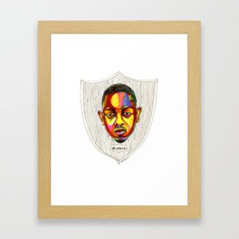 "Kendrick Lamar Artwork - ""Rigamortis"" Framed Art Print"