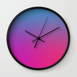 WIZARDS CURSE - Minimal Plain Soft Mood Color Blend Prints Wall Clock